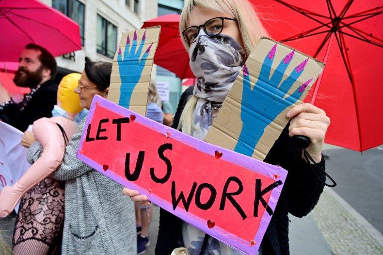 Sex worker protest in Berlin