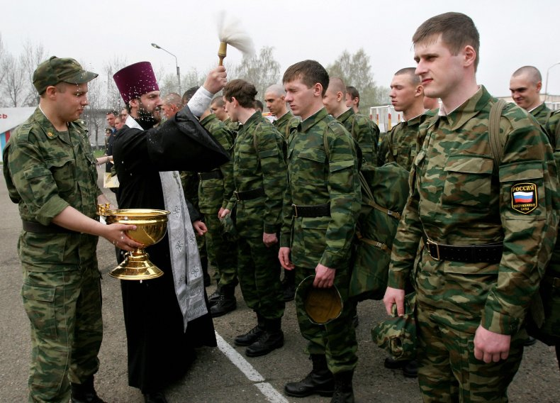 Russian army priest