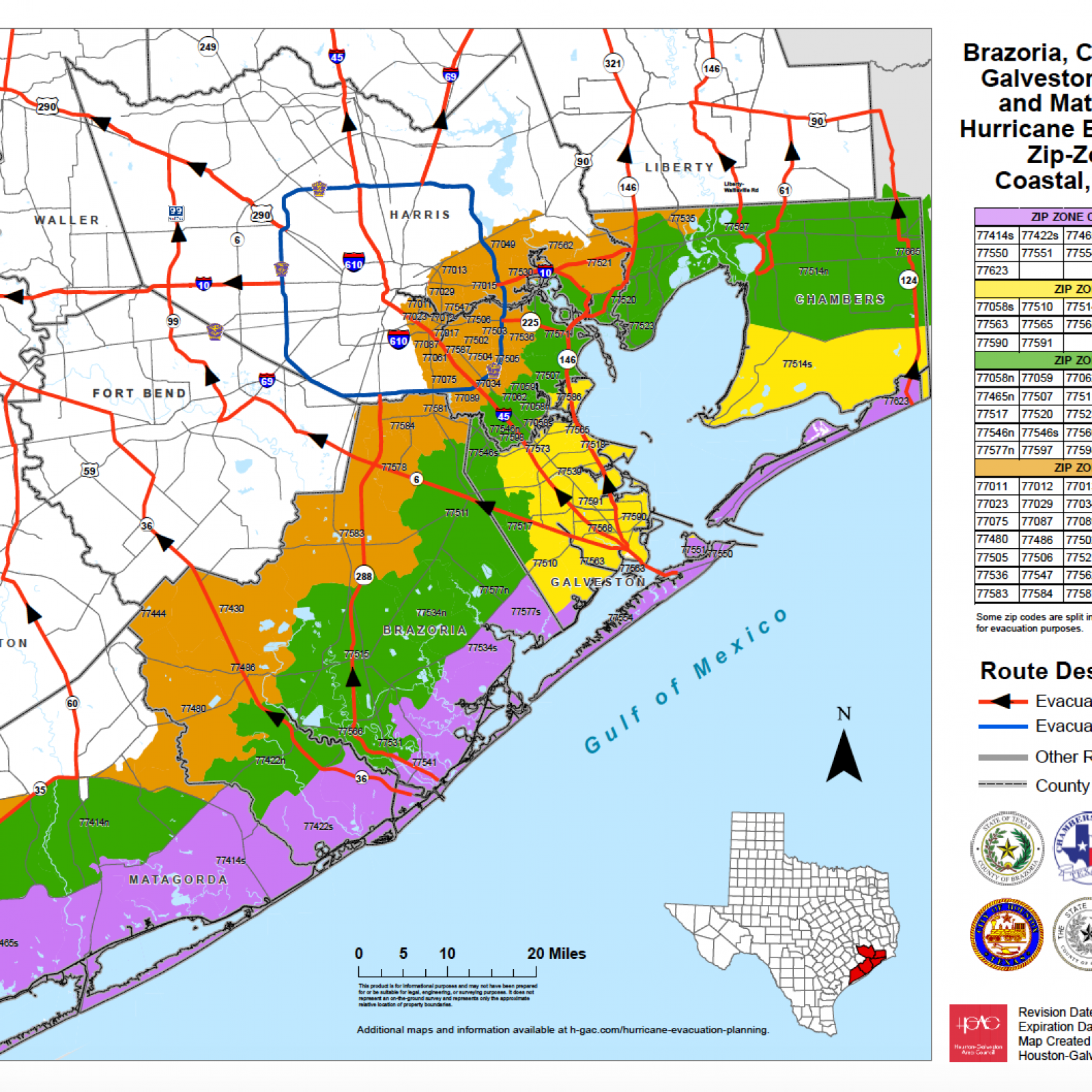 Map Of Texas Hurricane Hurricane Laura Evacuation Map: Residents In Galveston, Port