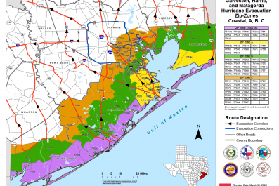 Hurricane Laura Texas Evacuation Map