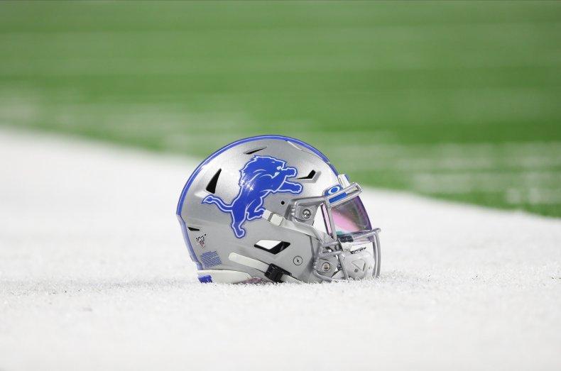 Detroit Lions Football Helmet