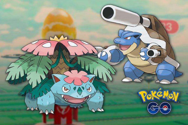 pokemon go mega raid update venusaur blastoise
