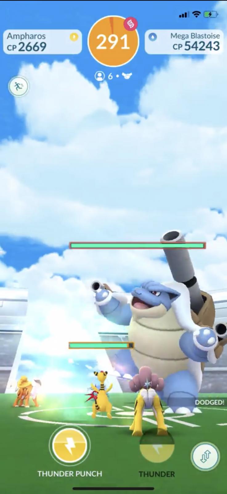 pokemon go mega raid blastoise screenshot