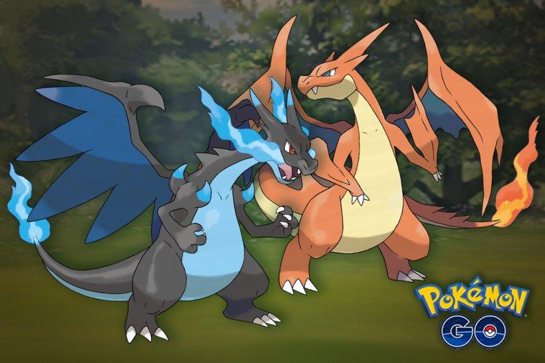 pokemon go mega charizard x and y