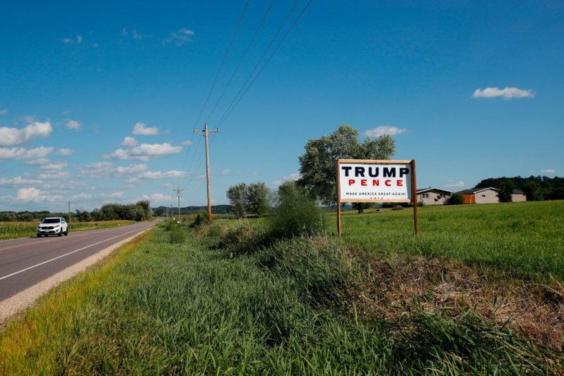 Trump-Pence sign in rural area