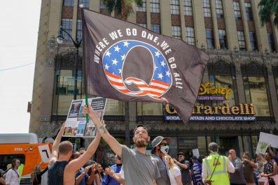 Conspiracy Theorist QAnon Demonstrators
