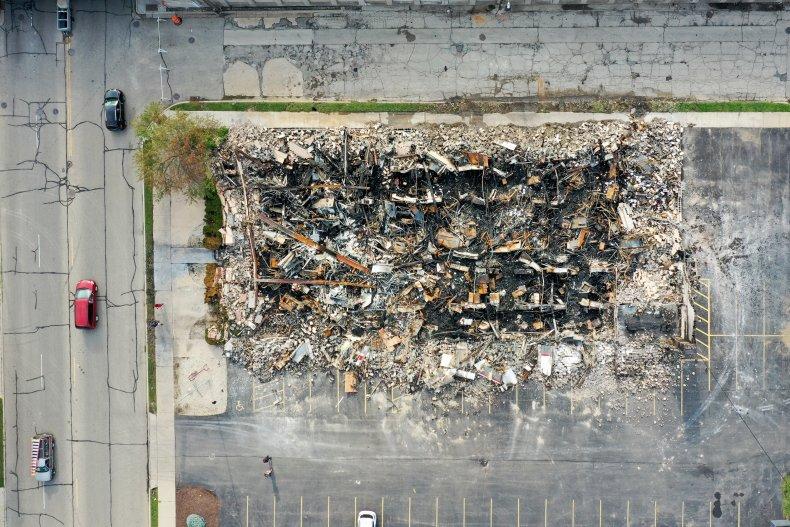Fire Destroys Building