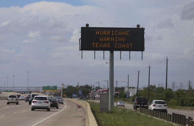 Hurricane Laura Warning Texas