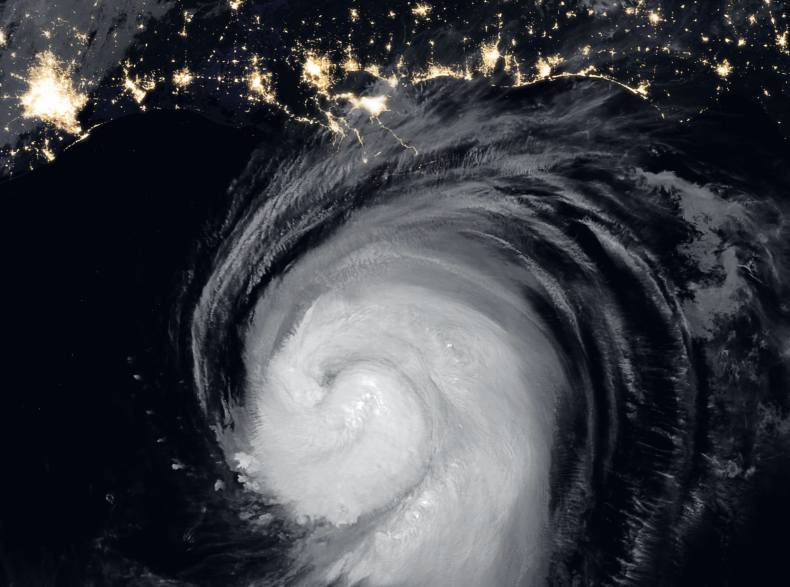 NASA satelitte image of Hurricane Laura