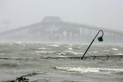 Lake Charles, Louisiana, bridge, September 2005