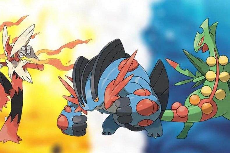 pokemon mega blaziken swampert sceptile