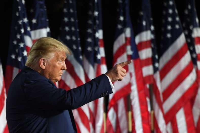 President Donald Trump at RNC 2020