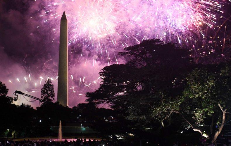 Fireworks Washington Monument RNC