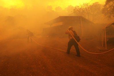 LNU Lightning Complex Fire California August 2020