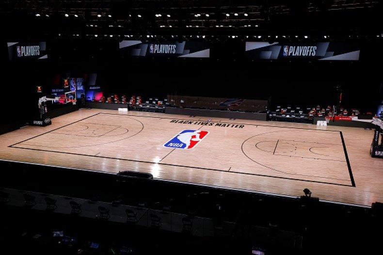 Empty NBA Court