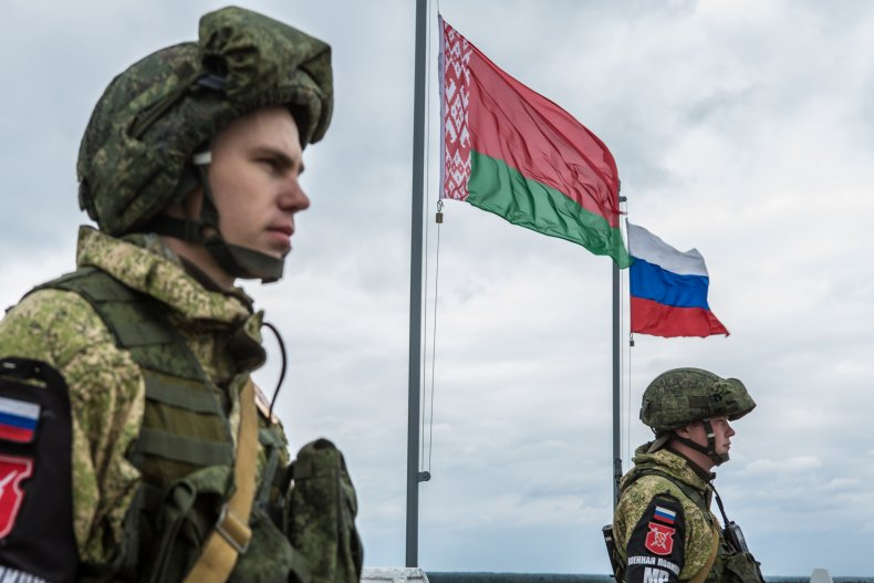russia, military, belarus, flags, exercises
