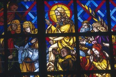 god jesus holy trinity stained glass