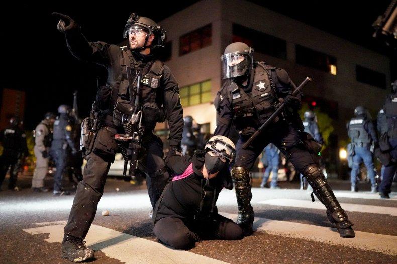 Portland police and Oregon State Patrol
