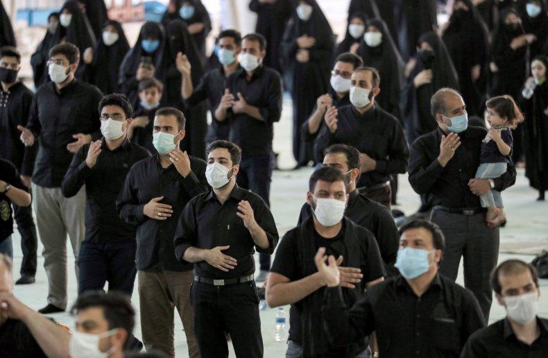 Shiite Muslim worshipers in Iran