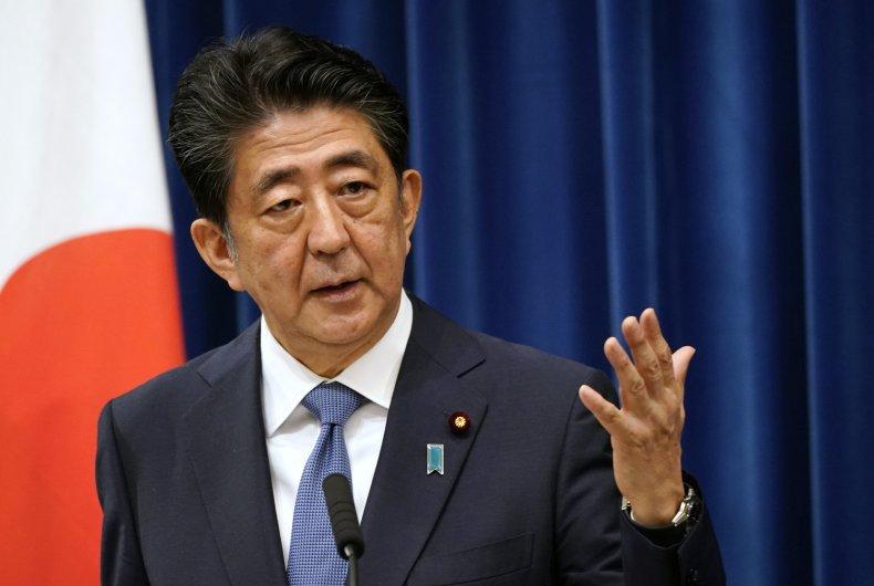 Outgoing Japanese Prime Minister Shinzo Abe