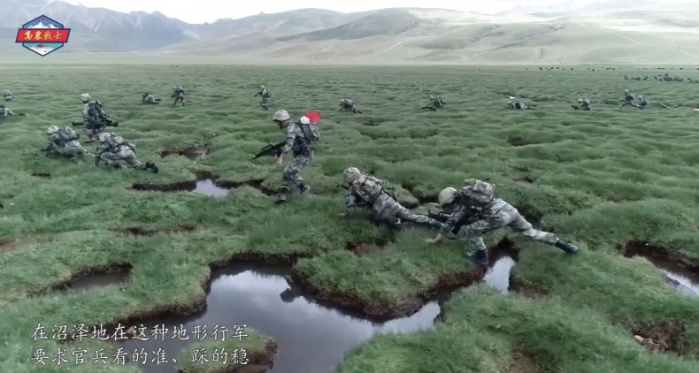 china, peoples, liberation, army, tibet, drills