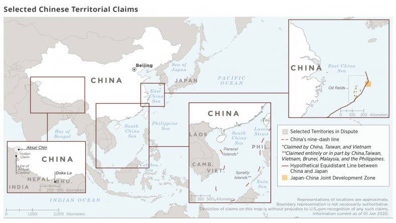 china, territory, disputes, map