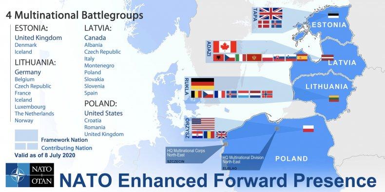 nato, enhanced, forward, presence, map
