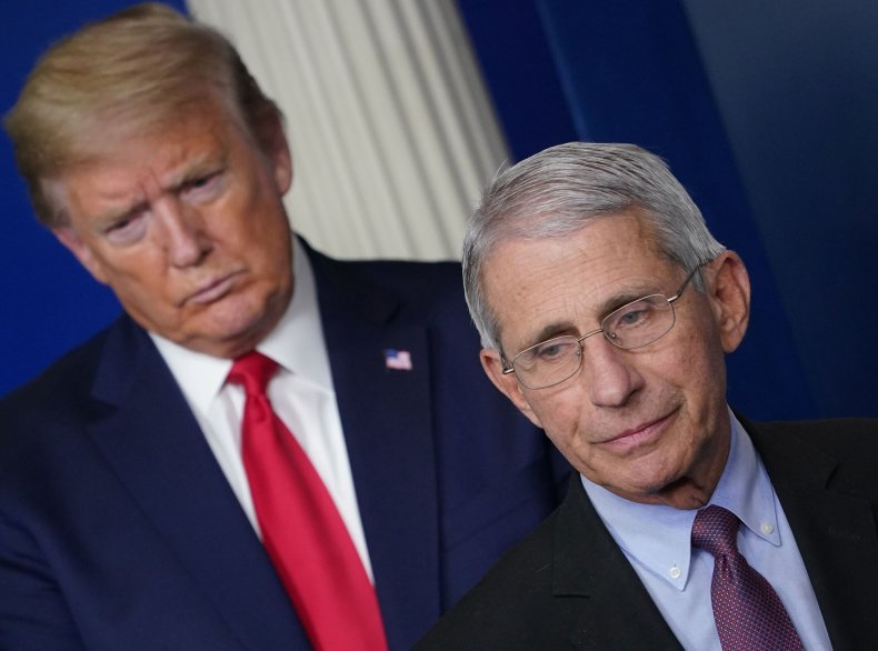 anthony fauci, donald trump, white house, getty