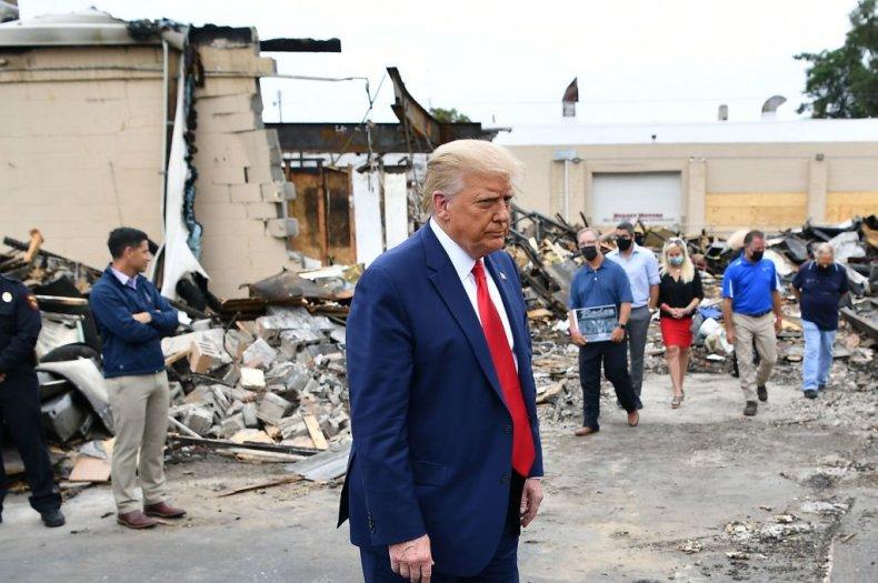 President Donald Trump Tours Kenosha, Wisconsin