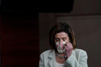 Speaker Nancy Pelosi Wearing a Face Mask