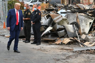 President Donald Trump in Kenosha, Wisconsin