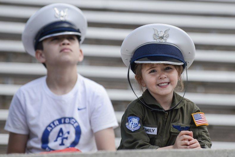 Children Watching Air Force Display