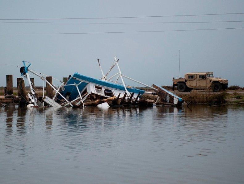 Hurricane Laura in Louisiana