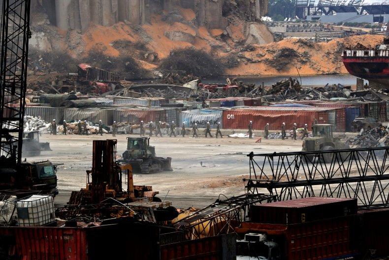 lebanon, army, beirut, port, explosion, blast