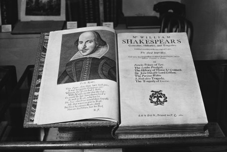 William Shakespeare folio book