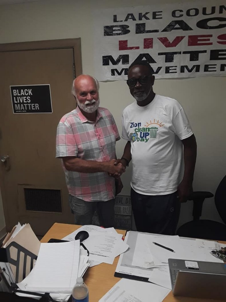 Clyde McLemore With Man Who Apologized