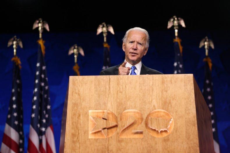 Joe Biden at the 2020 DNC