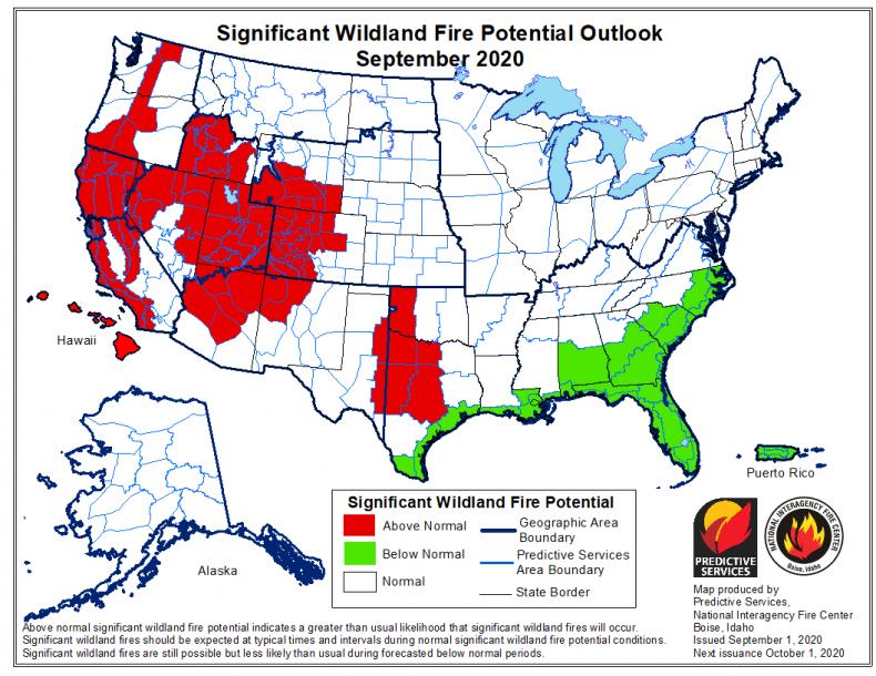 September Wildfire Forecast