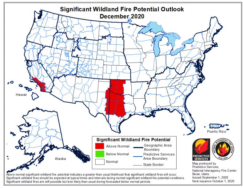 December Wildfire Forecast