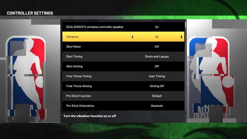 nba 2k21 options