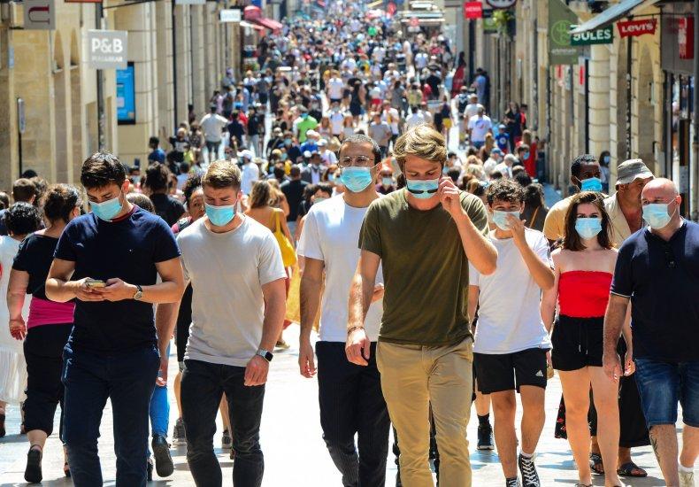 Bordeaux shopping street France coronavirus August 2020