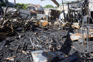 Destruction in Kenosha, Wisconsin