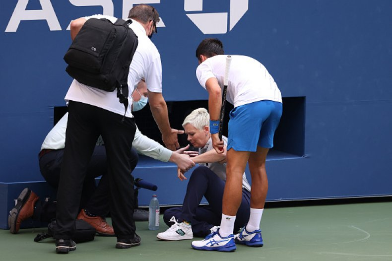 Top Men S Tennis Player Novak Djokovic Smashes Ball At Official Gets Dq D From U S Open