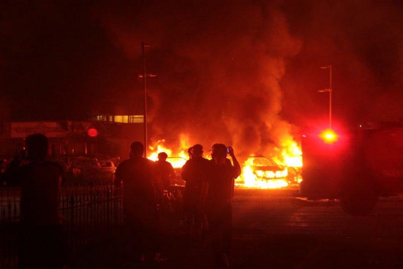 Fire in Kenosha, Wisconsin