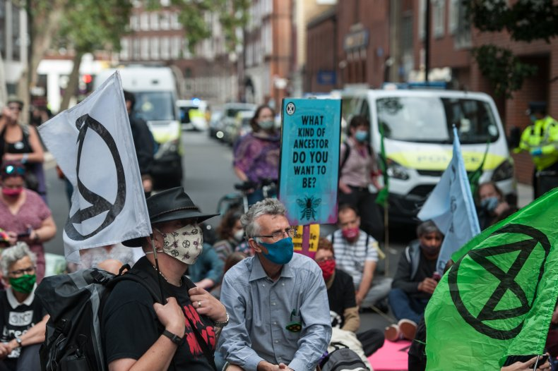 XR protesters in London