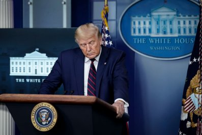 President Donald Trump During a News Conference