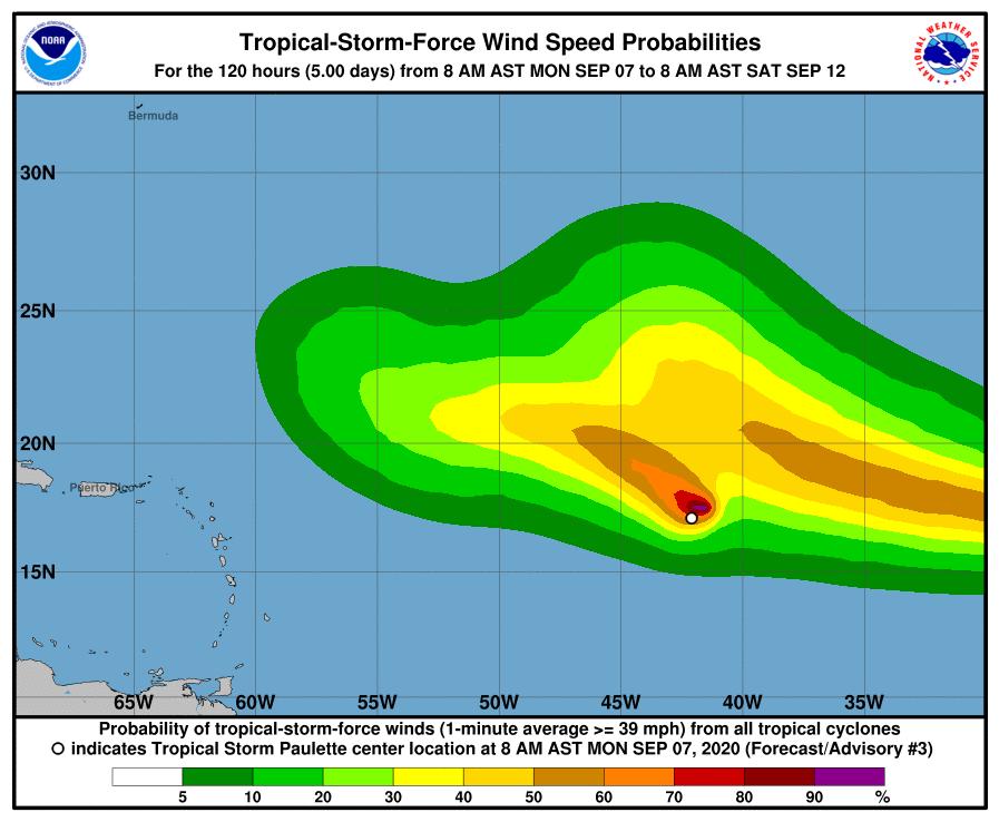 Paulette, 16th Named Storm, Forms Halfway Through 2020 Atlantic Hurricane Season thumbnail