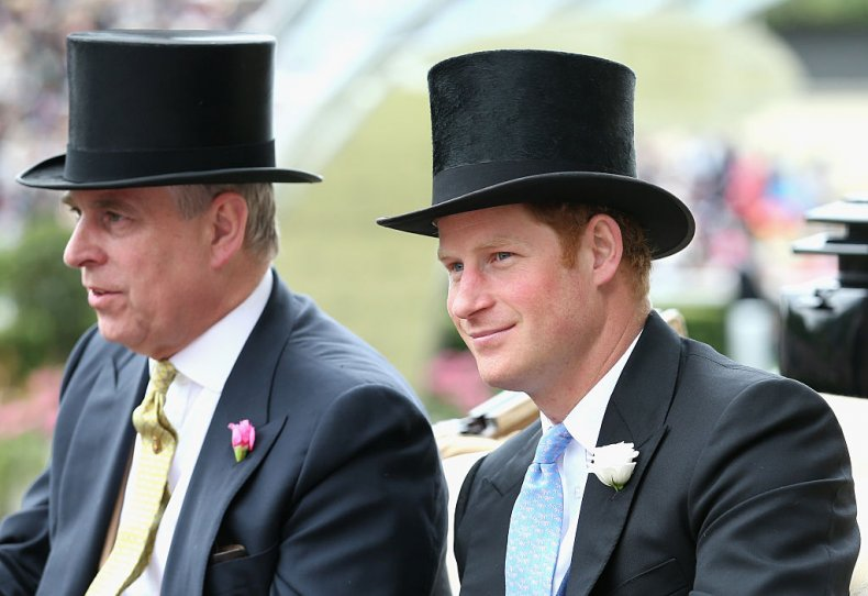 Prince Andrew and Prince Harry at Ascot