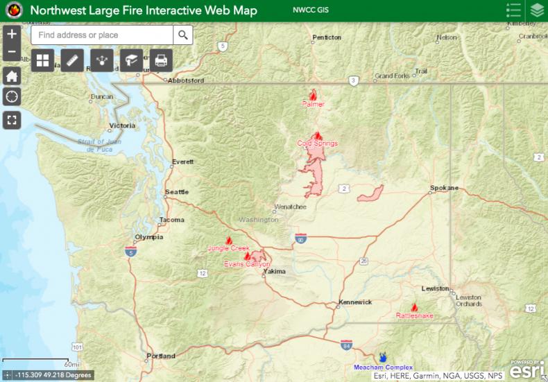 Washington Fire Map