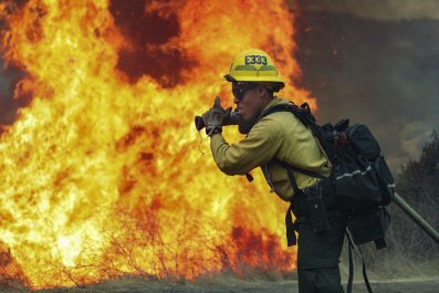 Valley fire California firefighters September 2020